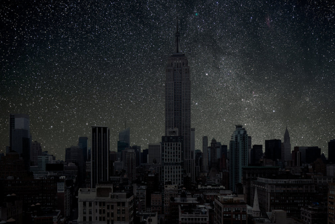 Starry New York City.
