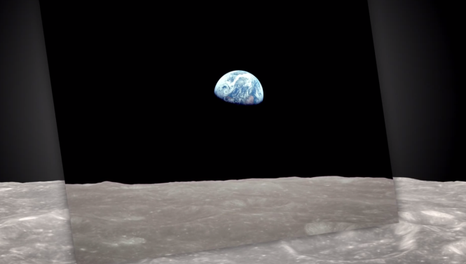 NASA's visualization of Earthrise.