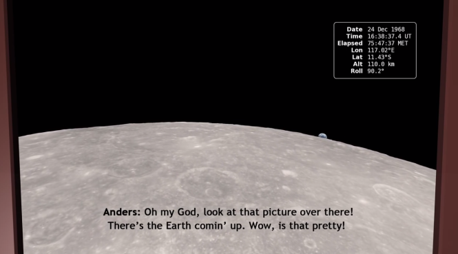 A still from NASA's new visualization of how Earthrise came to be.